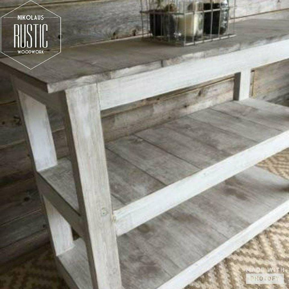 Whitewash Shiplap Headboard: Headboard Is Finished To Match The Night  Stands U0026 Console Table. All Pieces Can Be Ordered To Your Particular  Dimensions U0026 Can ...