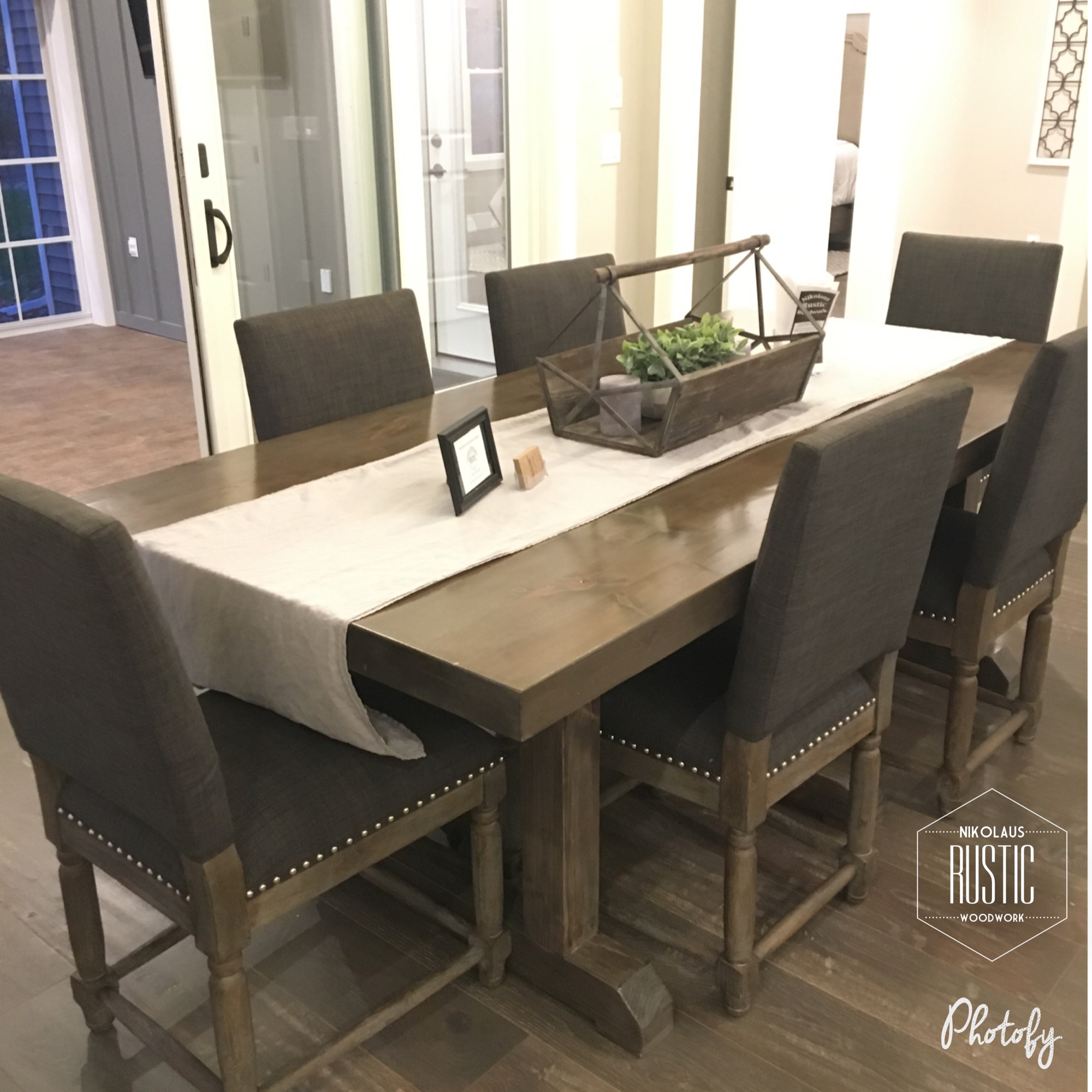Mixed Hardwood Dining Table: A 6 Ft. Dining Table With Matching Bench,  Created With Mixed Hardwood Reclaimed From A 100+ Year Old Barn From The La  Crosse, ...