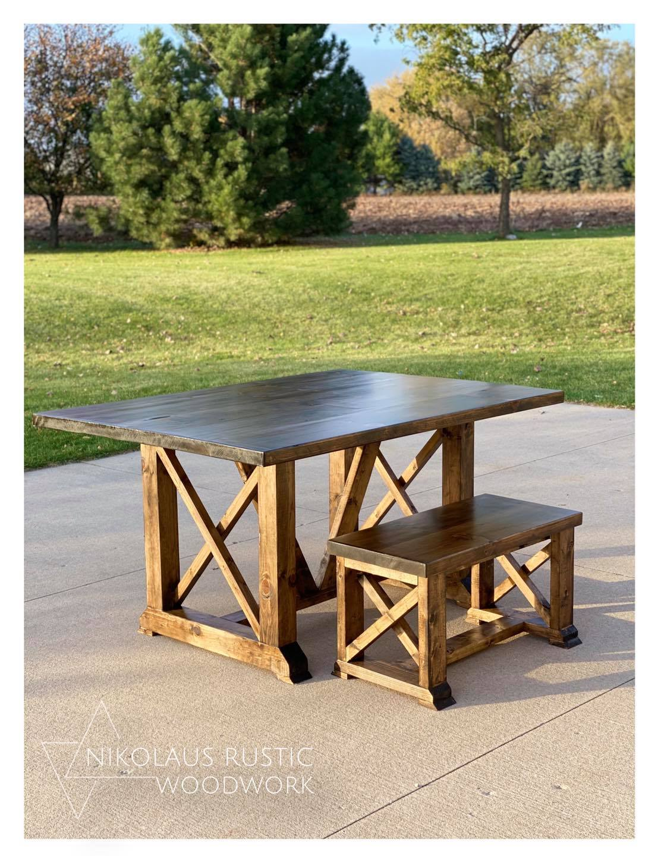 Farmhouse Tables Nikolaus Rustic Woodwork
